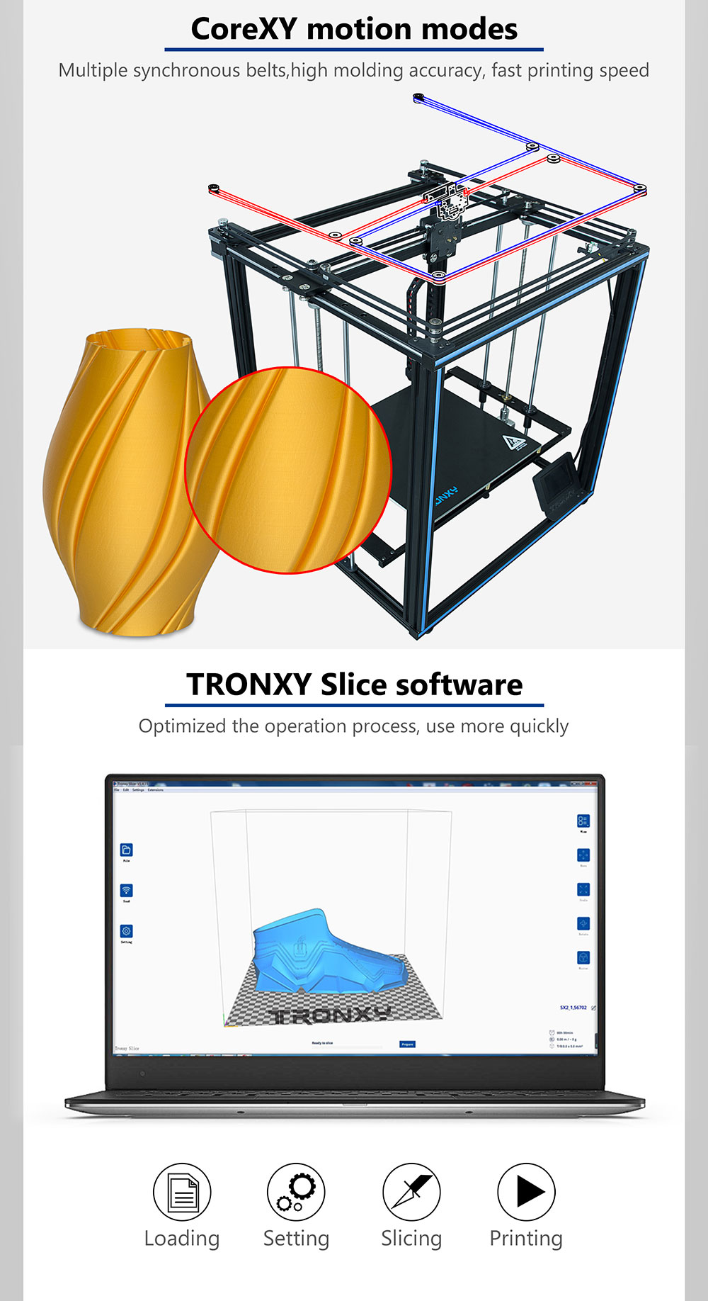 TRONXY X5SA-400 PRO DIY 3D Printer Kit 400*400*400mm Core XY with Titan Extruder/Auto Leveling/Filament Dectect/Power Resume
