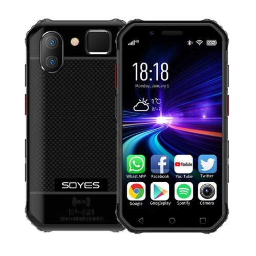 Wholesale SOYES S10 Rugged NFC 4G Phone with PTT Walkie Talkie (IP68 Waterproof, Fingerprint + Face Unlock, Black