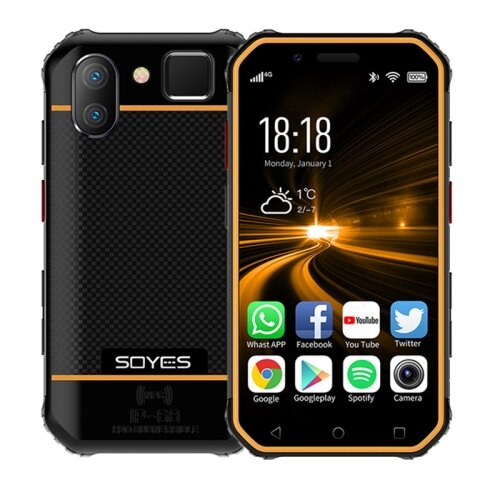 Wholesale SOYES S10 Rugged NFC 4G Phone with PTT Walkie Talkie (IP68 Waterproof, Fingerprint + Face Unlock, Orange)