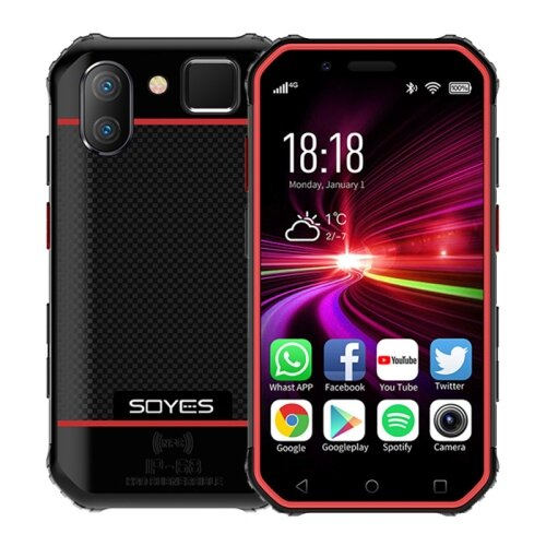 Wholesale SOYES S10 Rugged NFC 4G Phone with PTT Walkie Talkie (IP68 Waterproof, Fingerprint + Face Unlock, Red)