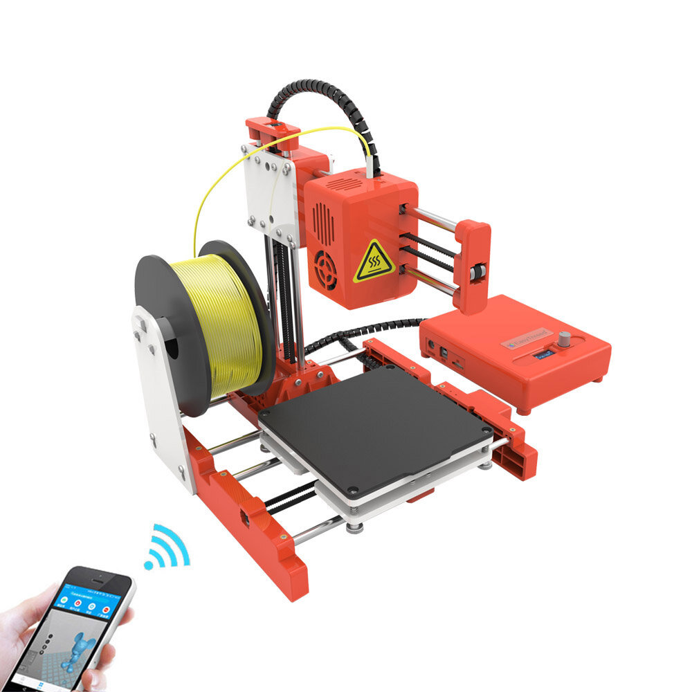 Easythreed X2 Desktop Mini 3D Printer 100X100X100mm Print Size with APP/LCD Control Support WIFI Connect for Children/Household St