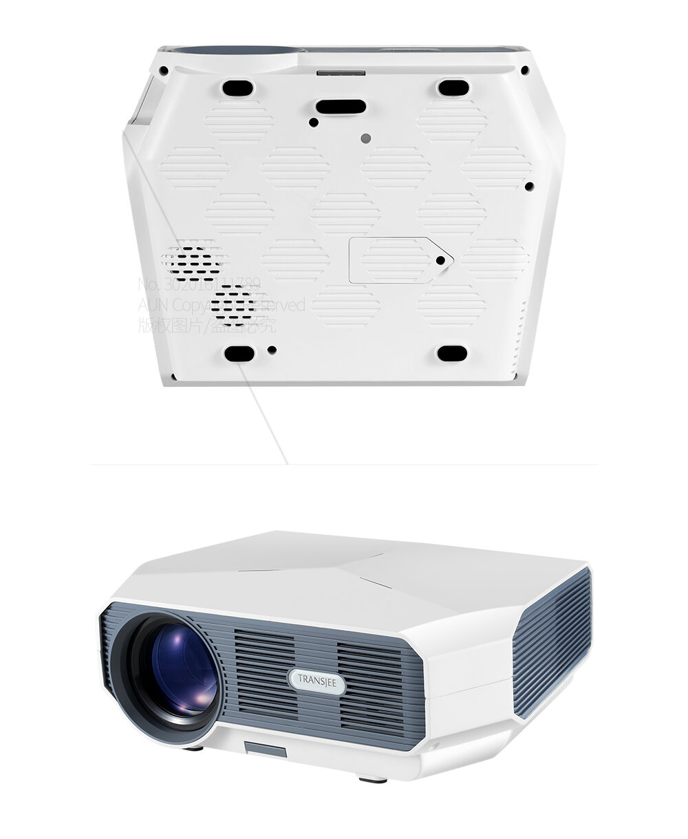 AUN ET10-AD LED Projector 3800 Lumen Android 6.0 1GB+8GB Wi-Fi Bluetooth Support 1080P 3000: 1 Contrast Ratio Video 3D Mini Beamer