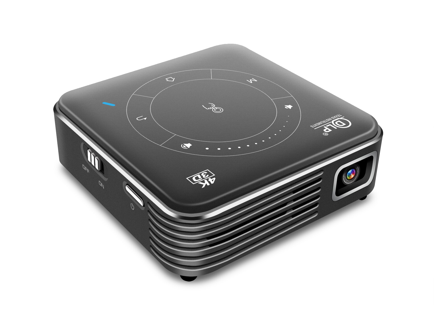 Wholesale P11 DLP Mini Projector Android 9.0 4GB+32GB 1000 Lumens Smart Pocket 3D Support Miracast Wi-Fi Home Video Projector Beamer