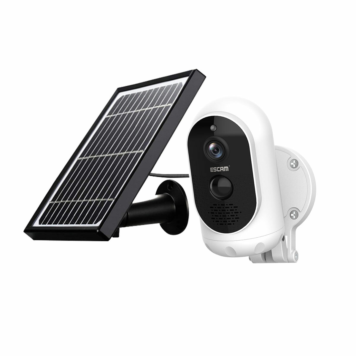 Wholesale ESCAM G12 1080P Full HD Outdoor Waterproof Camera H.264 Rechargeable Battery Solar Panel Night Vision PIR Alarm WiFi Camera