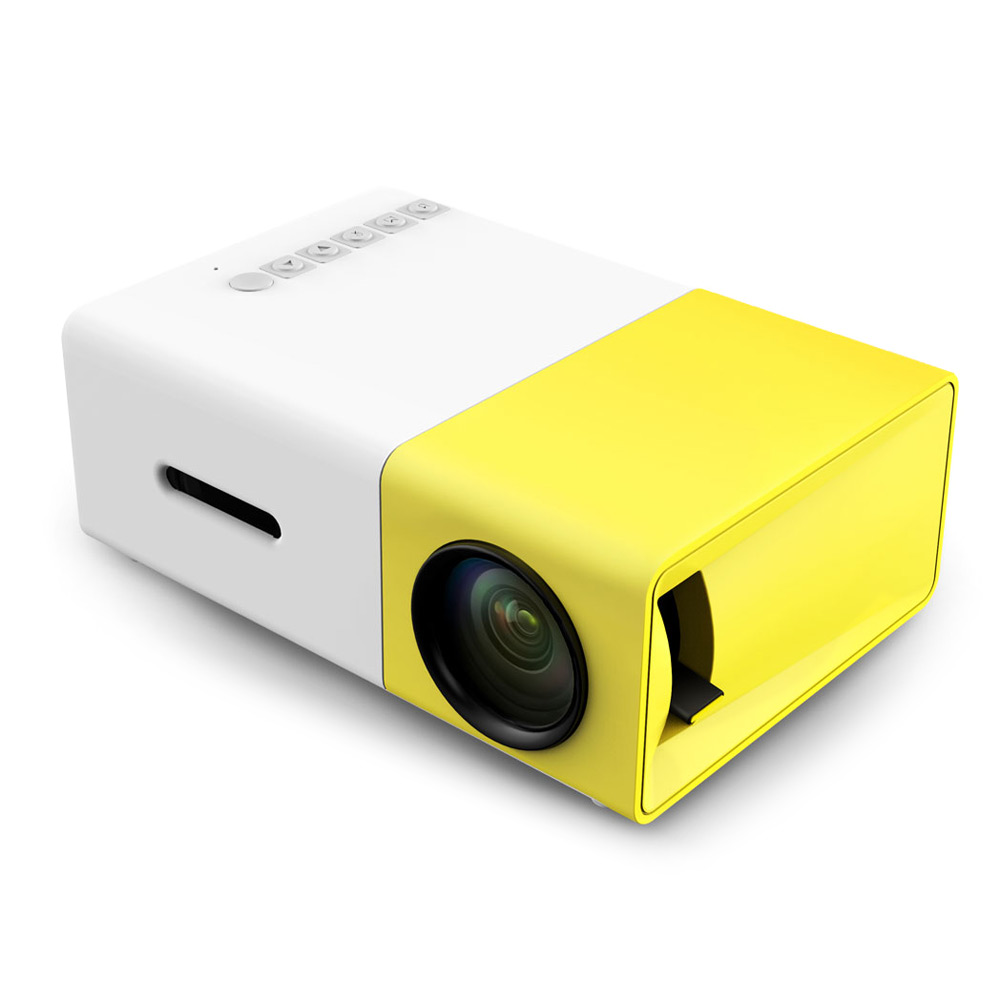 Wholesale YG-300 LCD Projector (400 - 600 Lumens, HDMI / USB / AV / CVBS, Support 1920x1080, Yellow)