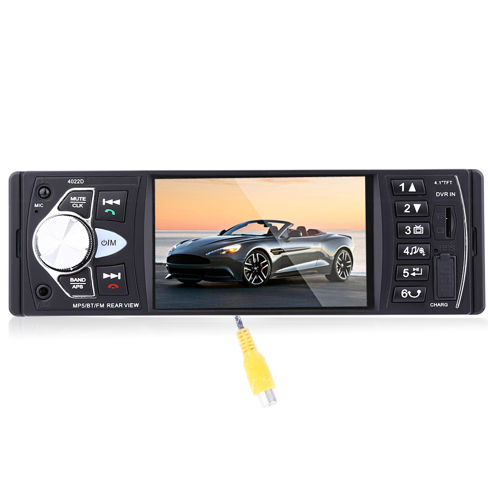 Wholesale 4022D 4.1 Inch Car MP5 Player with Remote Control Camera - Black