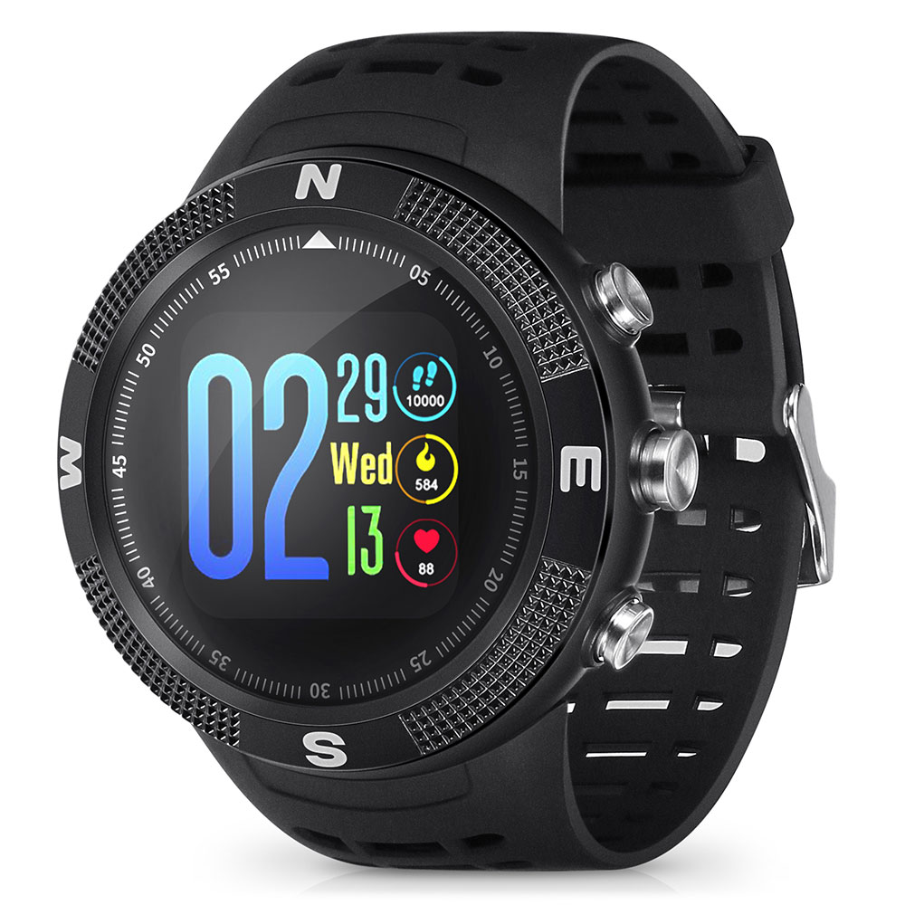 Wholesale NO.1 F18 GPS Sports Smartwatch - Black