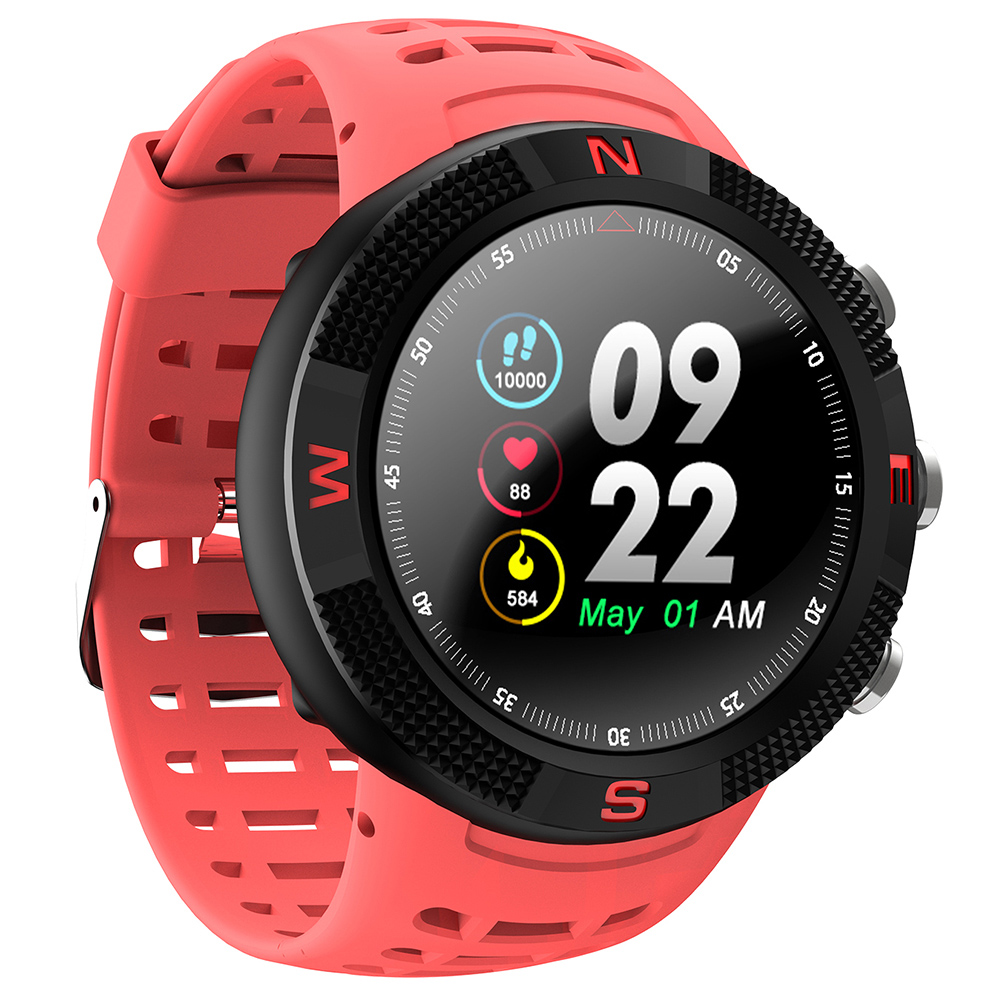 Wholesale NO.1 F18 GPS Sports Smartwatch with 1.3 Inch HD Display, 15 Days Standby Time, IP68 Waterproof - Lava Red