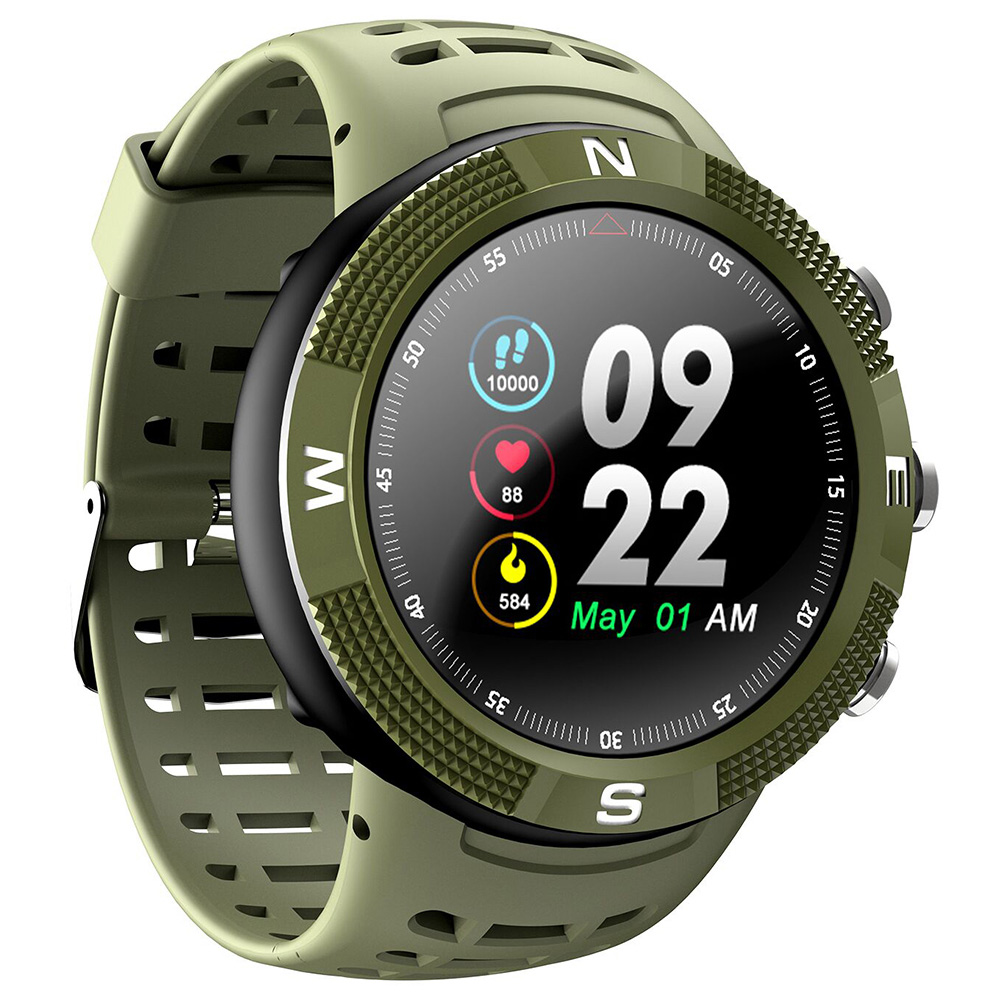 NO.1 F18 GPS Sports Smartwatch with 1.3 Inch HD Display, 15 Days Standby Time, IP68 Waterproof - Green