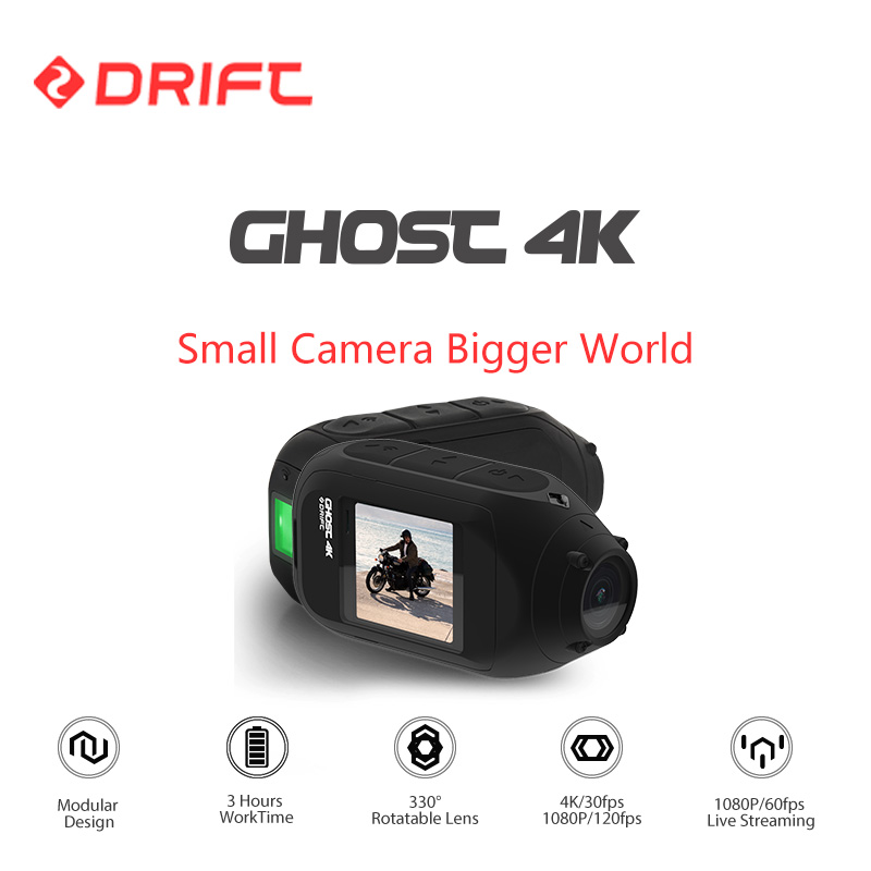 Wholesale Drift Ghost 4K WiFi Sports Action Camera for with Dual Microphone for Motorcycle, Bicycle