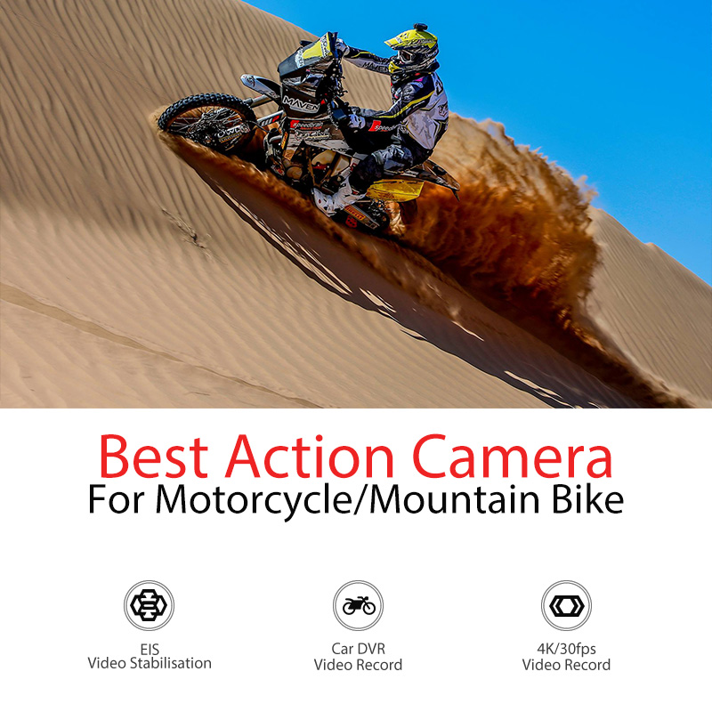 Drift Ghost 4K WiFi Sports Action Camera for with Dual Microphone for Motorcycle, Bicycle