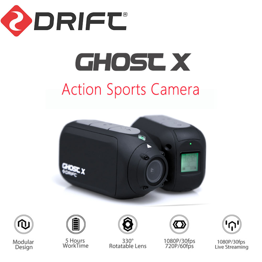 Wholesale Drift Ghost X Action Camera Sport Camera 1080P Motorcycle Mountain Bike Bicycle Camera Helmet Cam with WiFi
