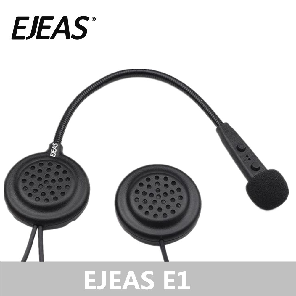 Wholesale EJEAS E1 Helmet Bluetooth Headset Interfone 15M CSR Chip 270mAh 12Hrs Talk Microphone Speaker MP3 Motorcycle Communication