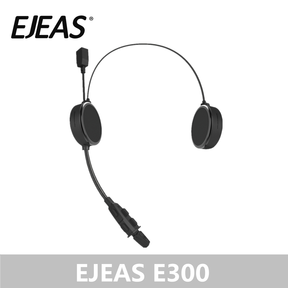 Wholesale EJEAS E300 Bluetooth 4.2 Motorcyclist Helmet Headphone Intercom AUX 40mm Speaker 2 Mobile Devices Connection