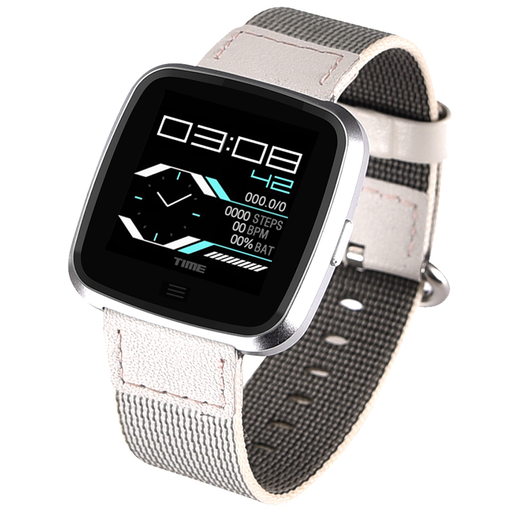 NO.1 G12 Waterproof Health Fitness Smart Watch with Heart Rate Monitor - Silver Steel Strap
