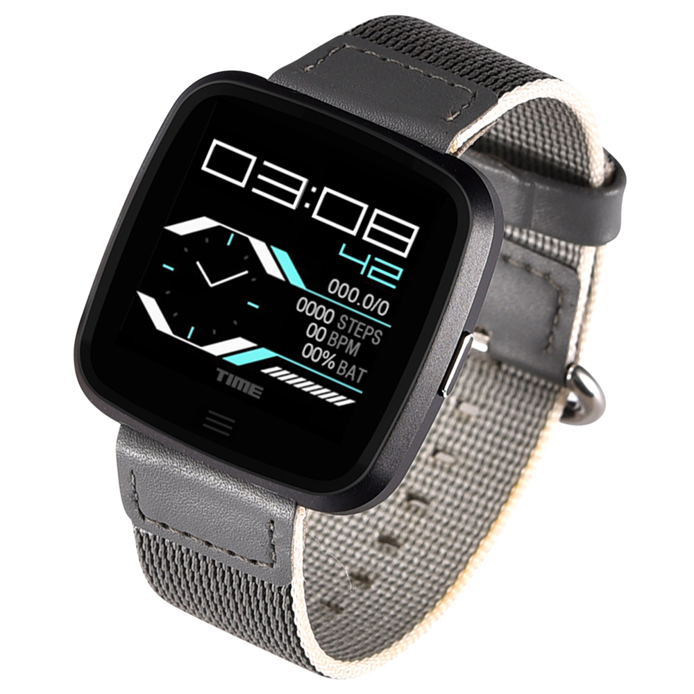 NO.1 G12 Waterproof Health Fitness Smart Watch with Heart Rate Monitor - Black Steel Strap