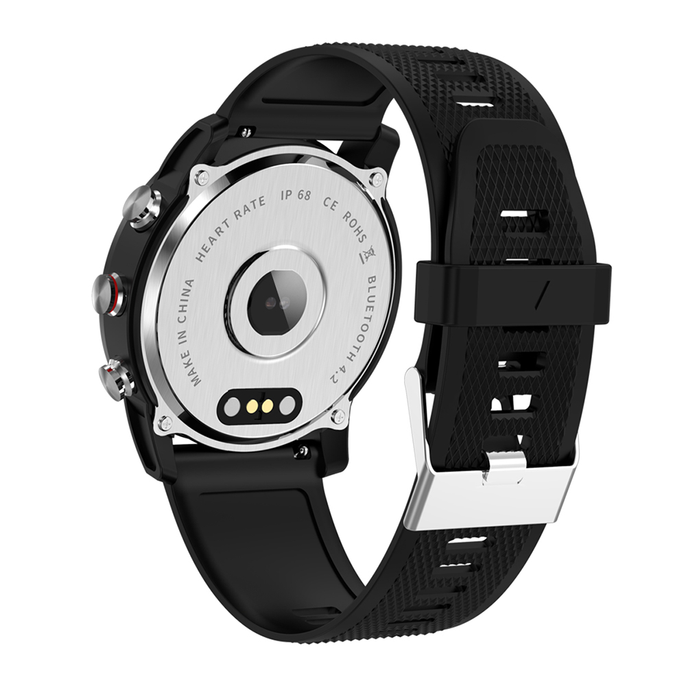 NO.1 S10 IP68 Waterproof Smart Watch (Heart Rate Monitor, Step Count Sedentary Reminder, Silicone Strap, Black)