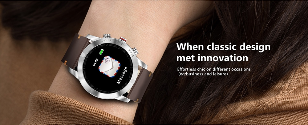 NO.1 S10 IP68 Waterproof Smart Watch (Heart Rate Monitor, Step Count Sedentary Reminder, Silicone Strap, Silver)