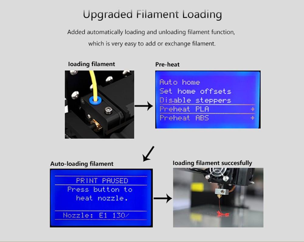 Anet A8 Plus DIY 3D Printer (300 x 300 x 350mm, Black)