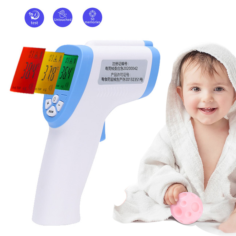 Wholesale Portable Non-contact Body Forehead Digital Infrared Thermometer Temperature Termometro for Baby / Adult