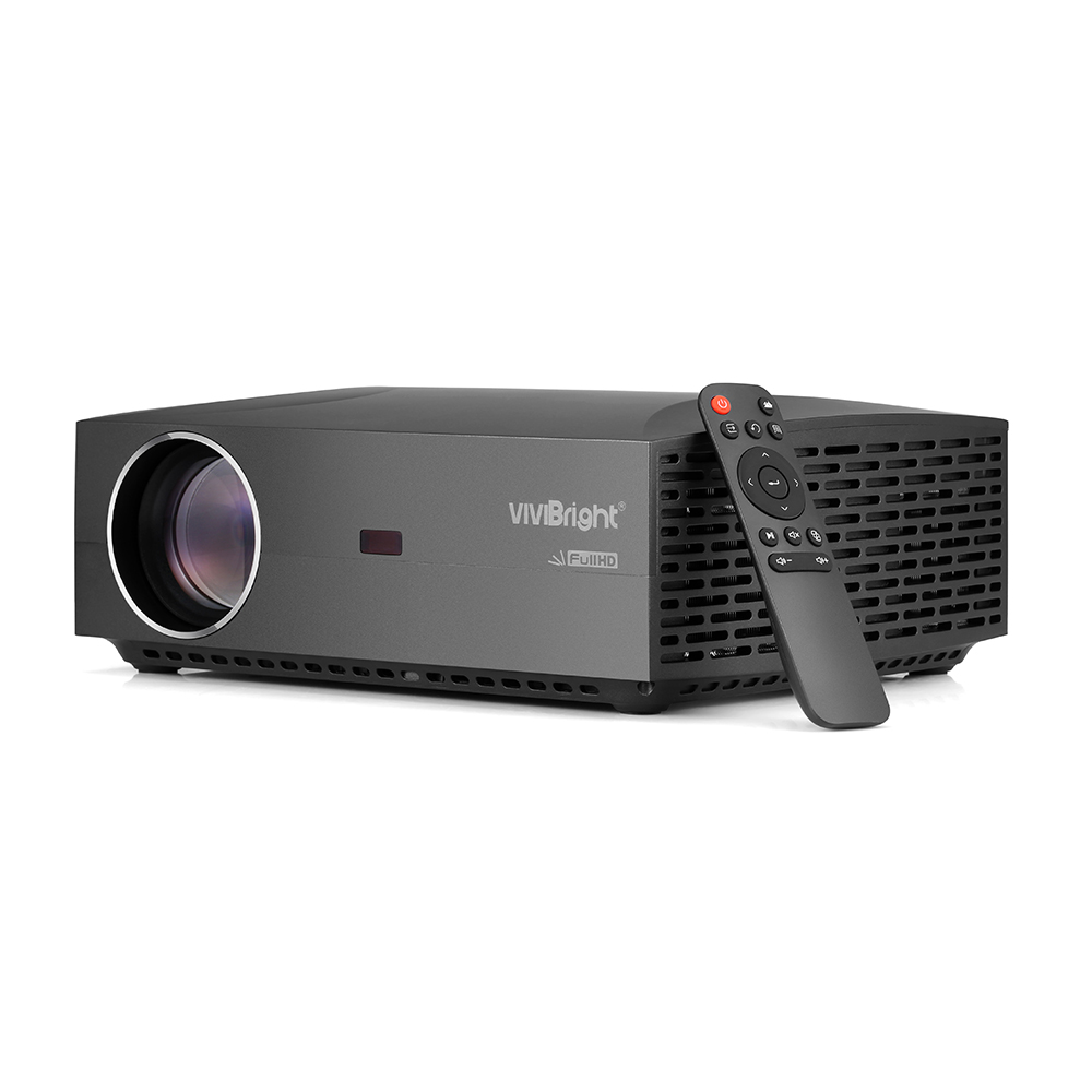 Wholesale VIVIBRIGHT F30 LED 3D Projector W/ Built-in Speaker for Home Entertainment / Business (15000: 1, 1920x1080, 4200LM, Black)