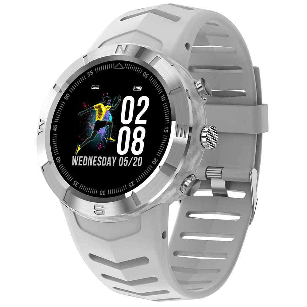 Wholesale NO.1 DT08 Waterproof Sports Watch with Heart Rate Monitor, Blood Pressure Oxygen Monitor - White
