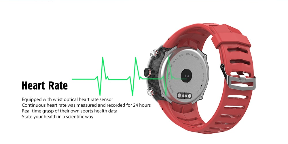 NO.1 DT08 Waterproof Sports Watch with Heart Rate Monitor, Blood Pressure Oxygen Monitor - White