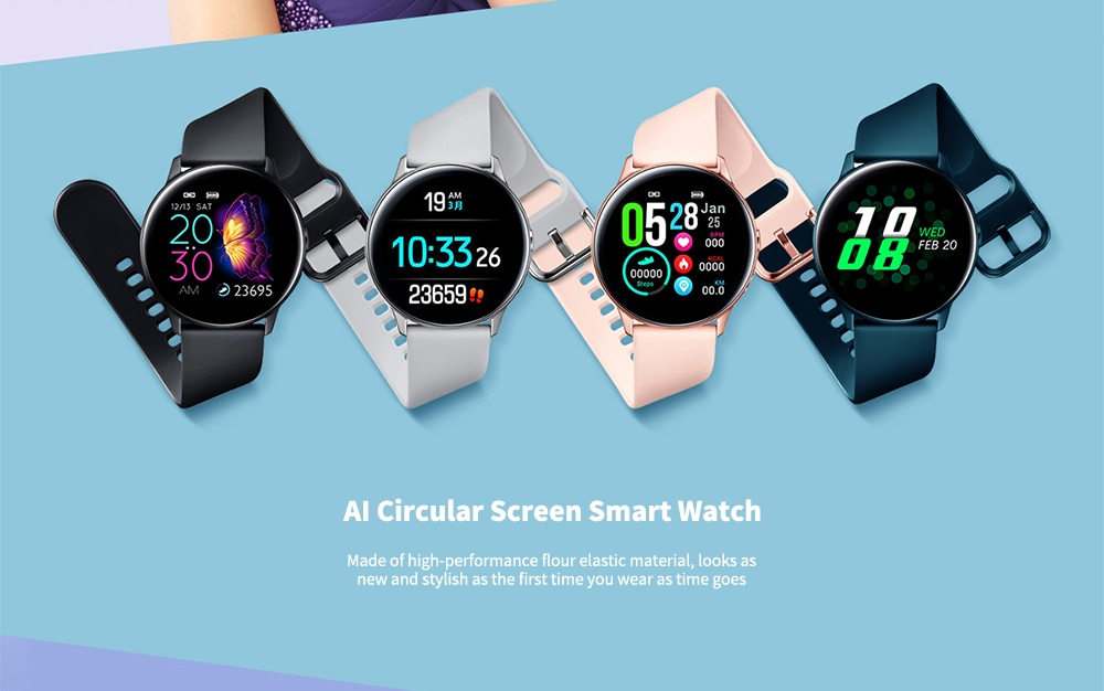 NO.1 DT88 Waterproof Smart Watch with 1.22 Inch Curved Color Screen- Silver Silicone Belt