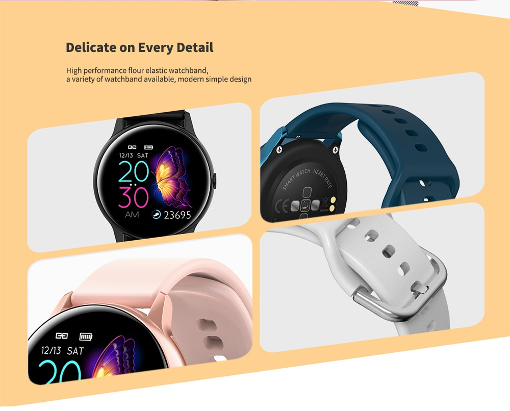 NO.1 DT88 Waterproof Smart Watch with 1.22 Inch Curved Color Screen- Pink Silicone Belt