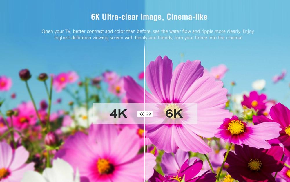 x96 X96H Smart Android 9.0 TV Box (64-bit Quad-Core CPU, HDR 6K, H.264 / H.265 / VP9 / VP6 / VP8, 4GB RAM, 32GB ROM, Black)