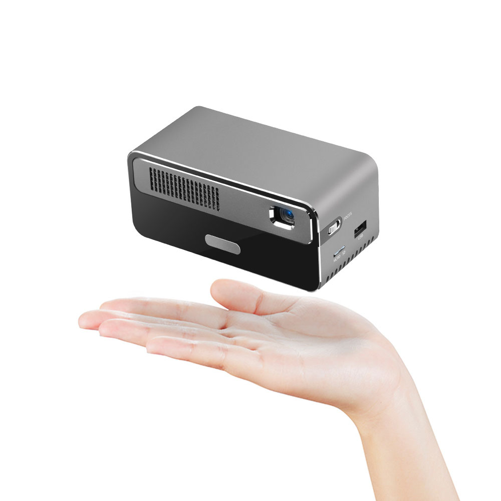 Wholesale HDP300 DLP 1080P 300 ANSI Lumens Smart Mini Projector Portable Home Cinema with 7000mAh Battery Hi-Fi Stereo Speaker Bluetooth - G