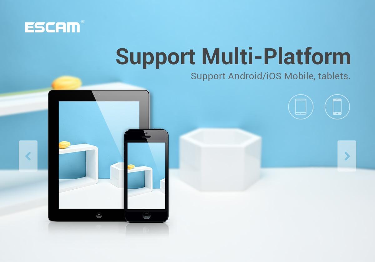 ESCAM G16 1080P Mini WiFi Night Vision Battery Camera with Audio Video Recording - Black