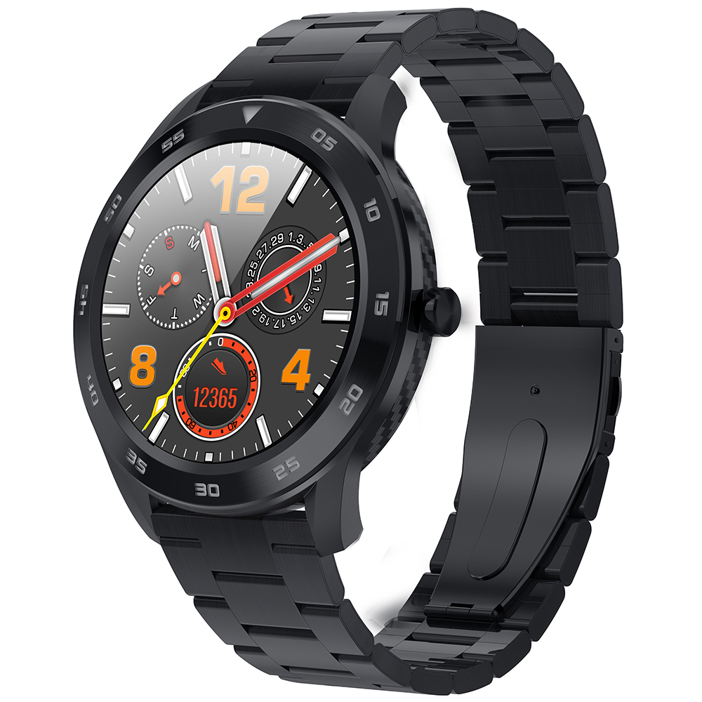 Wholesale NO.1 DT98 Full Round Sports Smart Watch with Bluetooth Call, ECG Heart Rate Blood O2 Monitor, IP68 Waterproof - Black