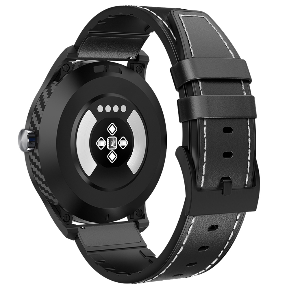 NO.1 DT98 Full Round Sports Smart Watch with Bluetooth Call, ECG Heart Rate Blood O2 Monitor, IP68 Waterproof - Night Black
