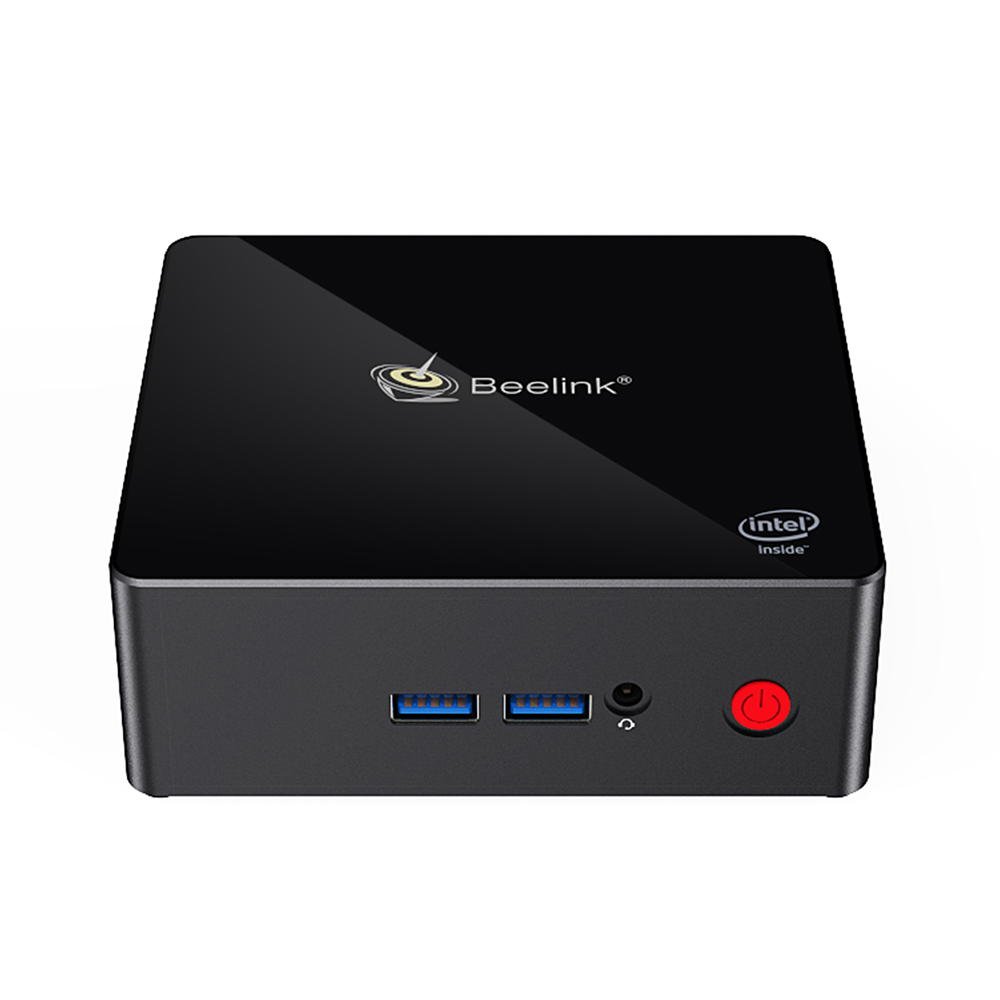 Beelink Gemini X55 Windows 10 Mini PC (Intel Quad Core CPU, Bluetooth, HDMI, 8GB LPDDR4, 512GB SSD, Black)