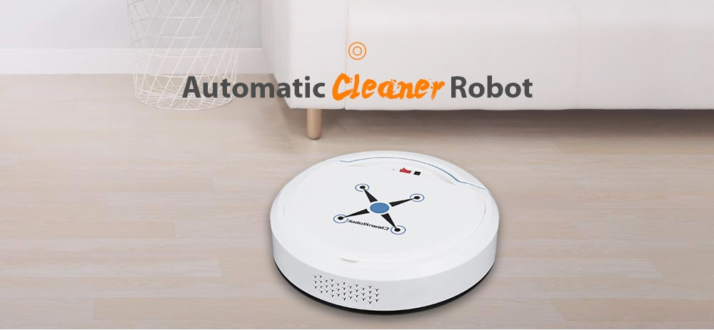 Mini Automatic Home Smart Robot Vacuum Cleaner Sweeping Mopping Machine - White