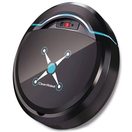 Wholesale Mini Automatic Home Smart Robot Vacuum Cleaner Sweeping Mopping Machine - Black
