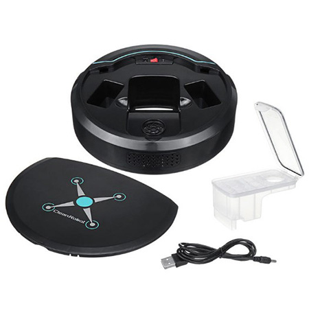 Mini Automatic Home Smart Robot Vacuum Cleaner Sweeping Mopping Machine - Black