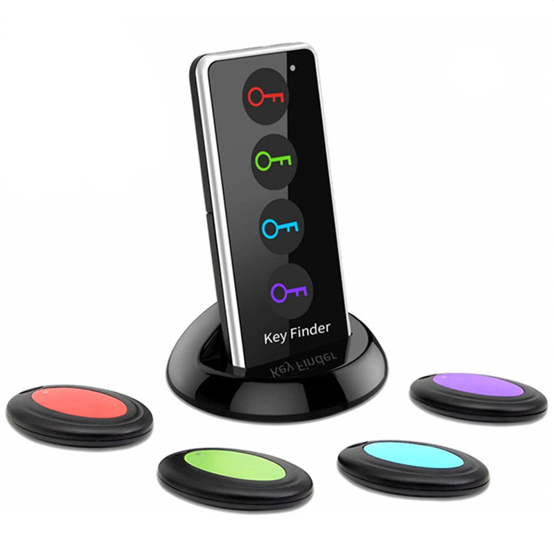 Wholesale 4-in-1 Household Smart Anti-lost Key Finder Wireless Phone Tracker - Black