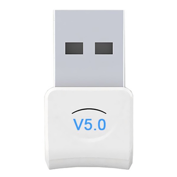 Wholesale USB Bluetooth 5.0 Adapter Receiver for PC / Laptop / Headphones (Up to 20 Meters Wireless Range, White)