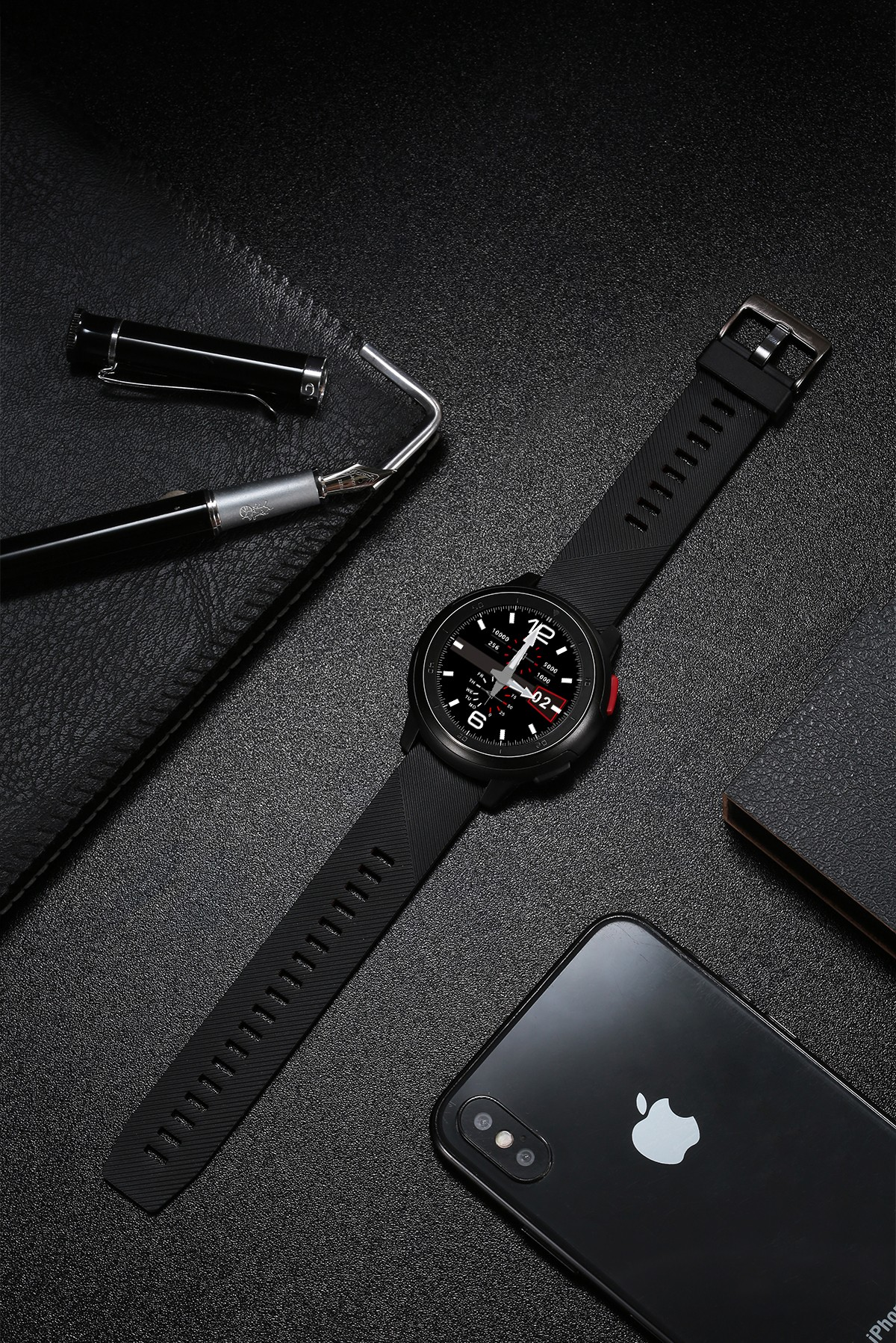 No.1 DT68 1.2 Inch Full Circle Touchscreen HD Smart Watch (IP68 Waterproof, 30 Days Long Standby, Multiple Watch Faces, Red)