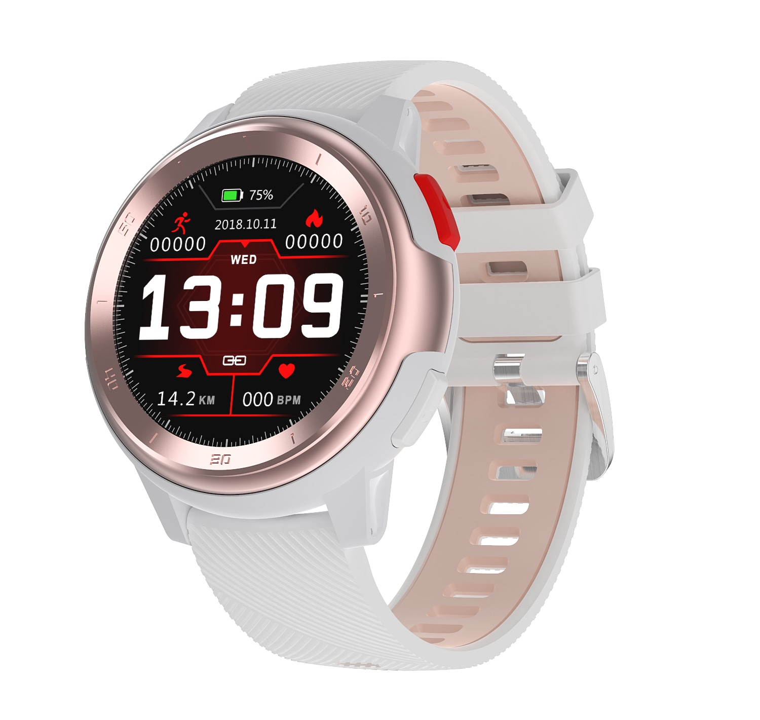 No.1 DT68 1.2 Inch Full Circle Touchscreen HD Smart Watch (IP68 Waterproof, 30 Days Long Standby, Multiple Watch Faces, White)