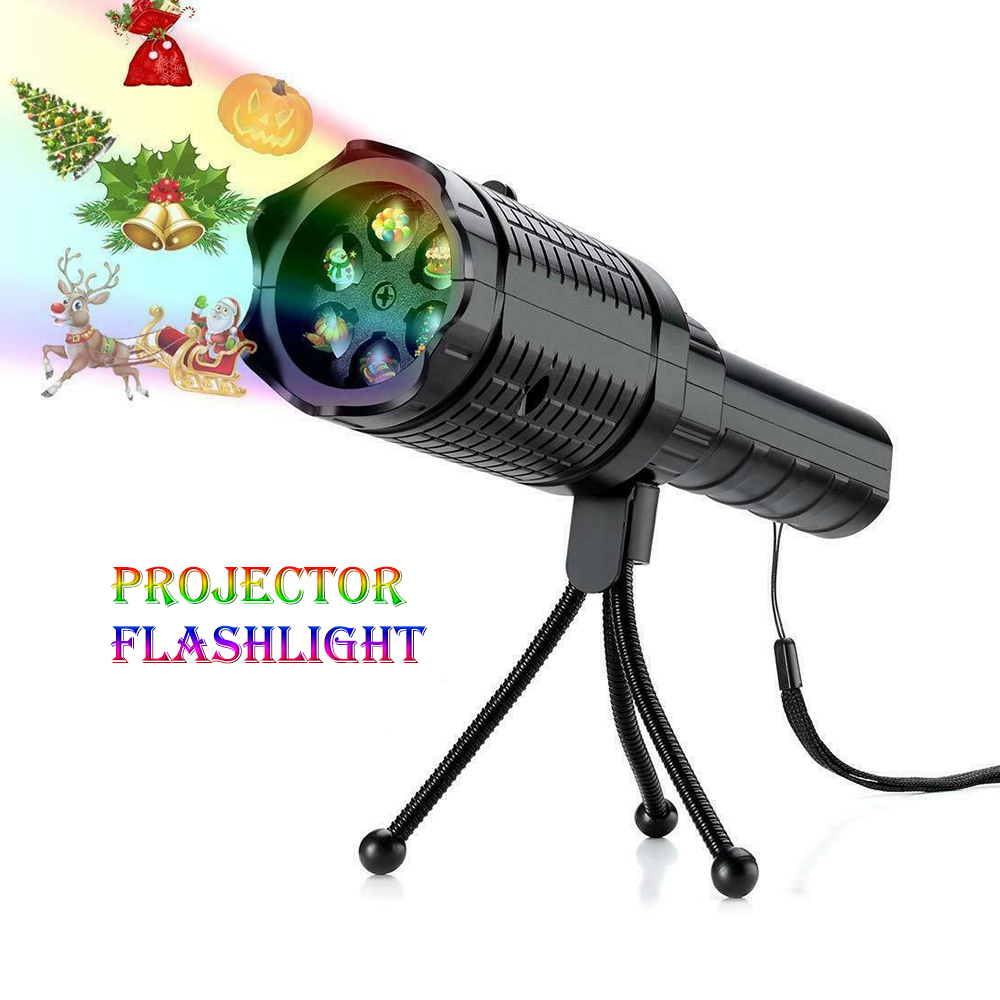 Wholesale LED Projector Decoration Flashlight Festival Decoration for Halloween, Christmas Easter Birthday Party - Black