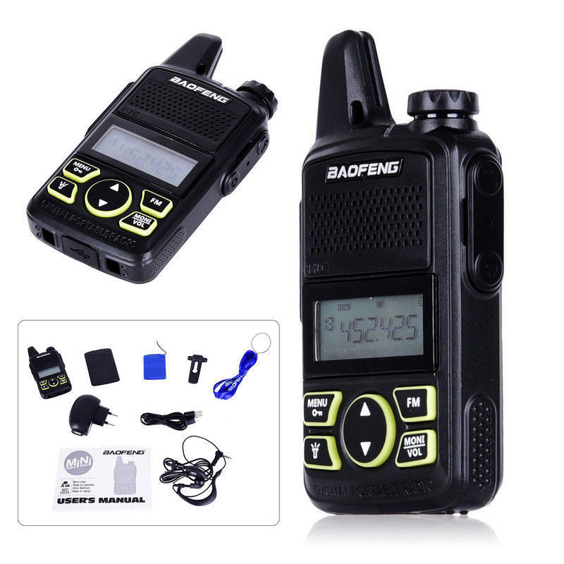 Wholesale BAOFENG Bf-T1 Portable Portable Wireless Walkie Talkie - Black (2-pin)