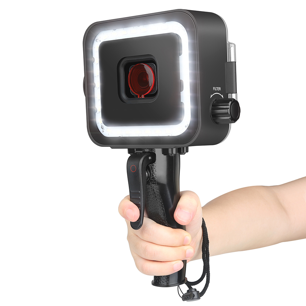 Wholesale Waterproof Underwater Diving Fill Photography Light with Flash for GoPro - Black