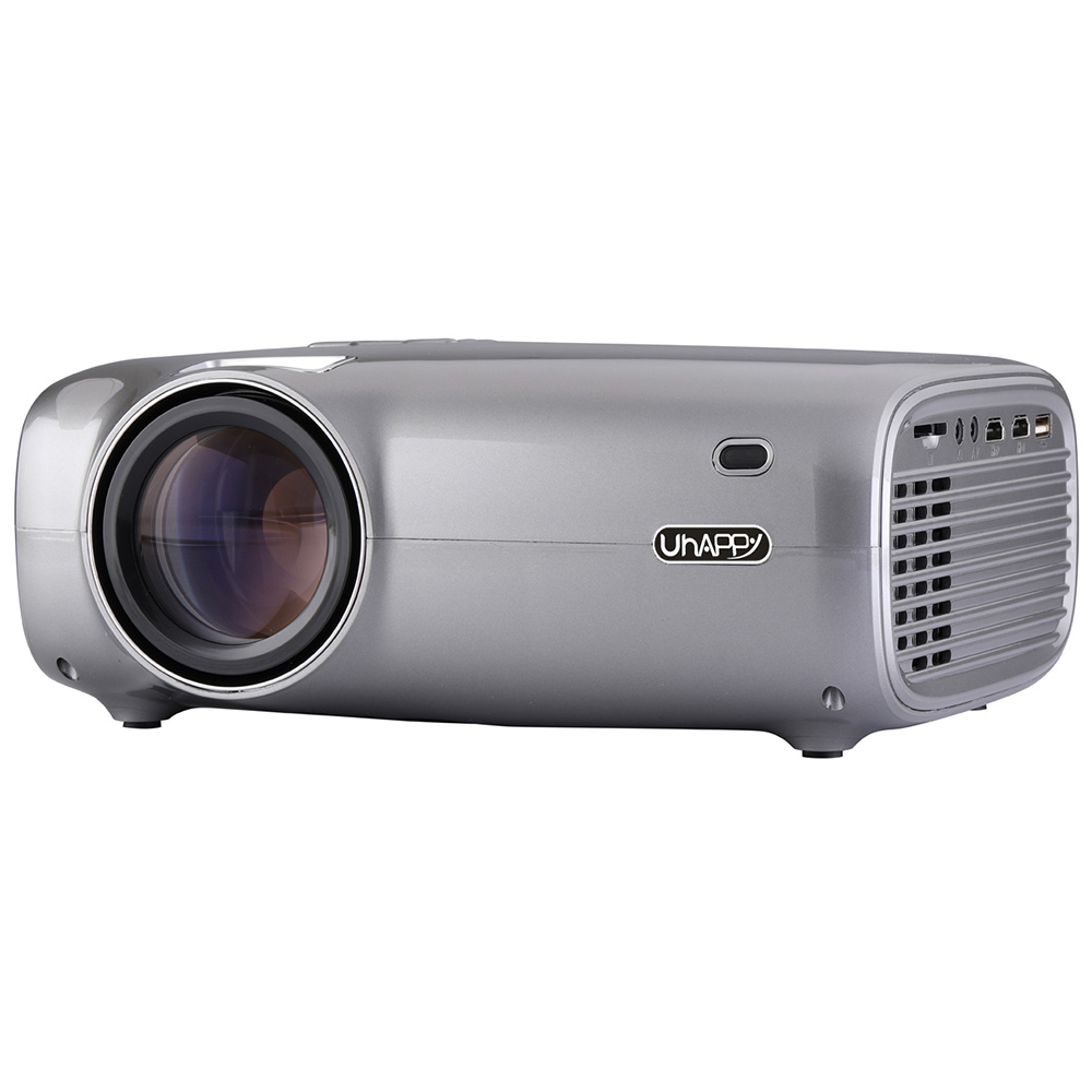 Wholesale Uhappy U43 1080P HD Mini Home Theater Projector - Gray (3-pin)