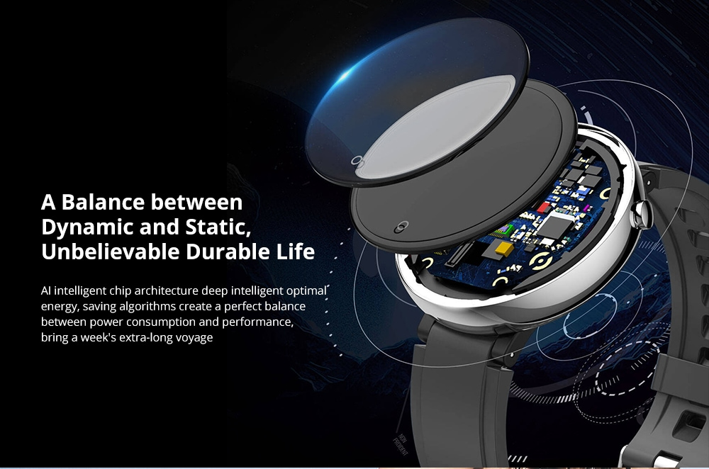DTNO.1 DT18 2.5D 1.4 inch Color Screen Wristband Health Fitness Tracker IP67 Waterproof Smart Watch - Gold