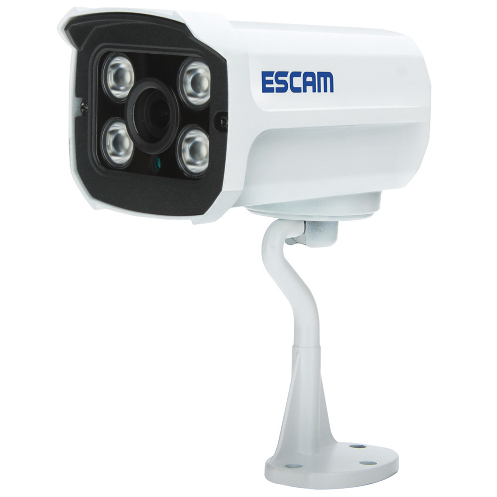Wholesale ESCAM QD300 H.265 Auto Tracking 2MP 1080P HD Wireless Two-way Talk Night Vision Network PoE IP Camera - White