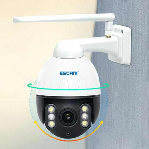 ESCAM Q5068 5MP HD Outdoor PTZ WiFi Network IP Camera 4X Zoom Night Vision Two Way Audio IP66 Waterproof Home Security System