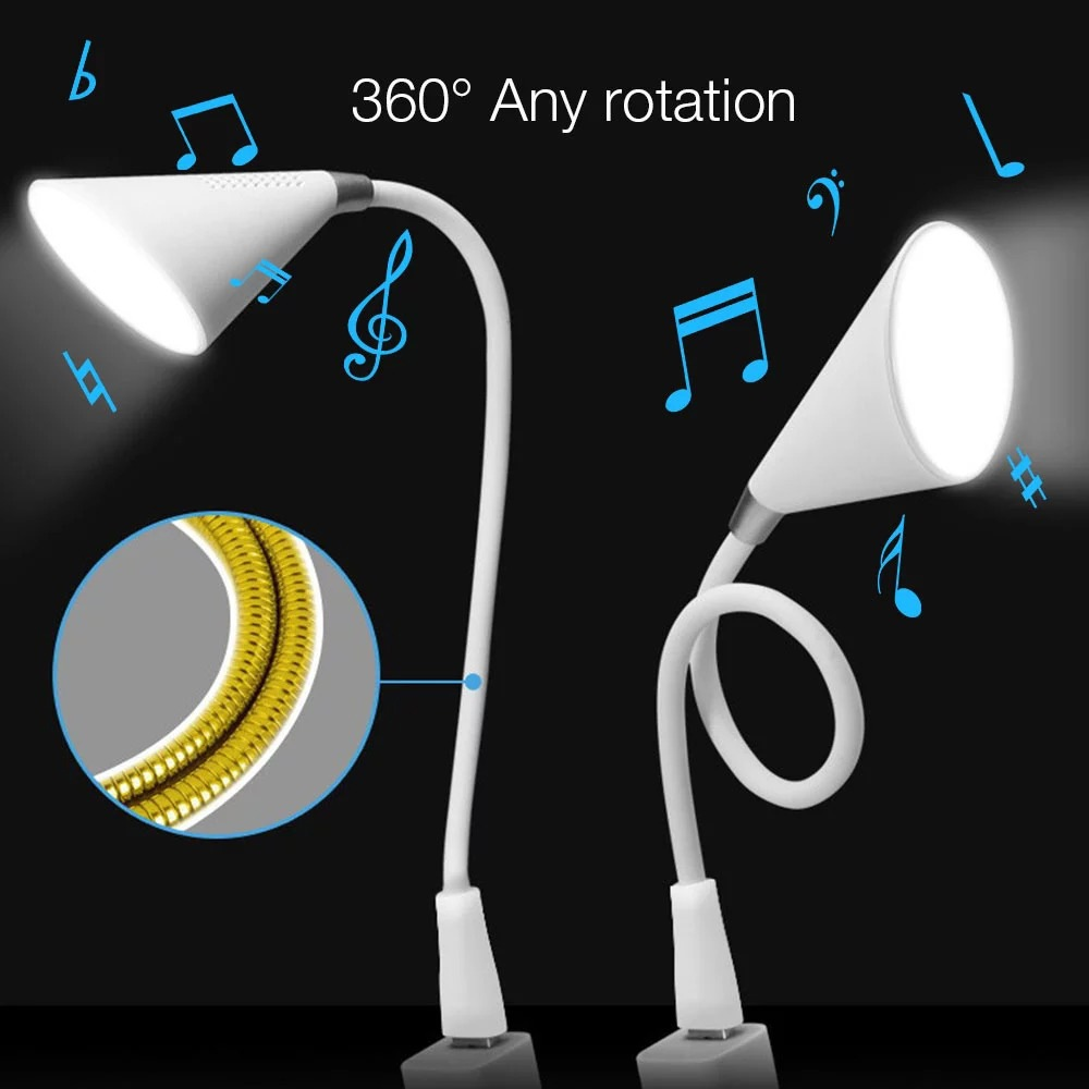 Portable Wireless Two-Color USB Touch Multi-Function Bluetooth Speaker LED - Milk White